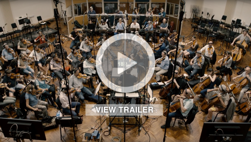 "James conducting ""Walking On The Moon"" in Air Studios with the London Metropolitan Orchestra"